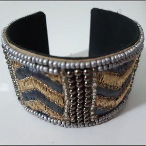 Gray/gold indian bracelet